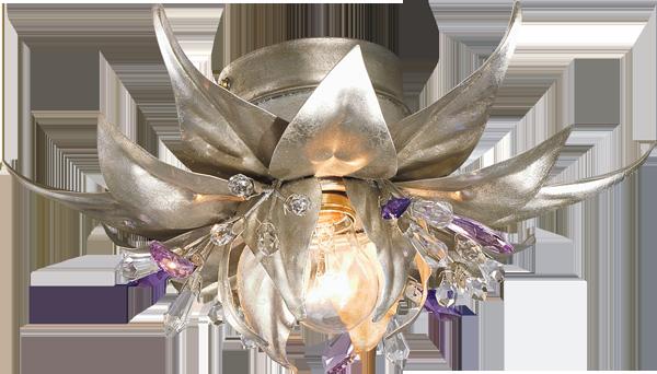 Plafoniere Con Swarovski : Plafoniera lampadario tipo swarovski sfere cristallo mina